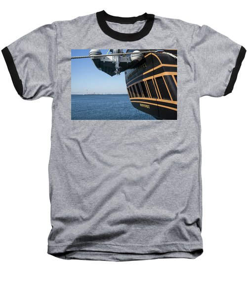 Baseball T-Shirt featuring the photograph Ssv Oliver Hazard Perry Close Up by Nancy De Flon