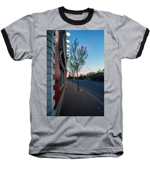 Baseball T-Shirt featuring the photograph St. Anne Street At Dusk by Darcy Michaelchuk
