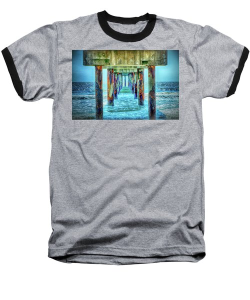 Baseball T-Shirt featuring the photograph St. Augustine Beach by Louis Ferreira