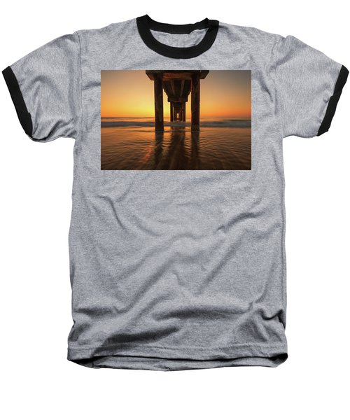 St Augustine Beach Pier Morning Light Baseball T-Shirt