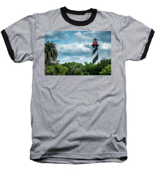 Baseball T-Shirt featuring the photograph St. Augustine Lighthouse by Louis Ferreira