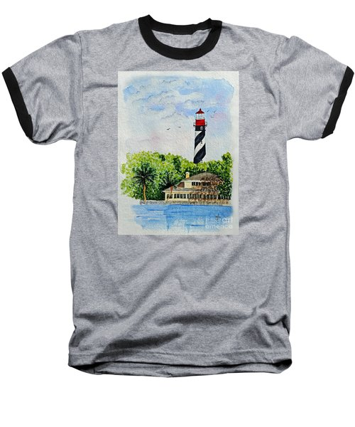 St Augustine Lighthouse  Baseball T-Shirt by Terri Mills