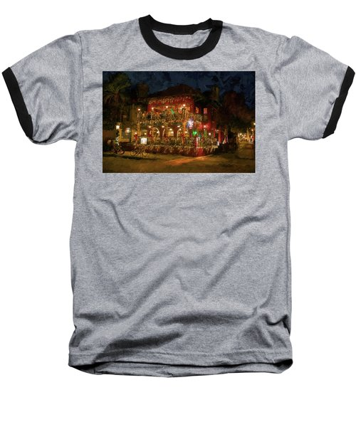 Baseball T-Shirt featuring the photograph  St. Augustine Meehan's Pub by Louis Ferreira