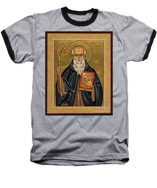 St. Benedict Of Nursia - Jcbnn Baseball T-Shirt