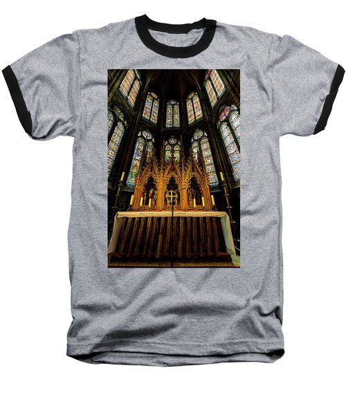 Baseball T-Shirt featuring the photograph St. Elizabeth Church by David Morefield