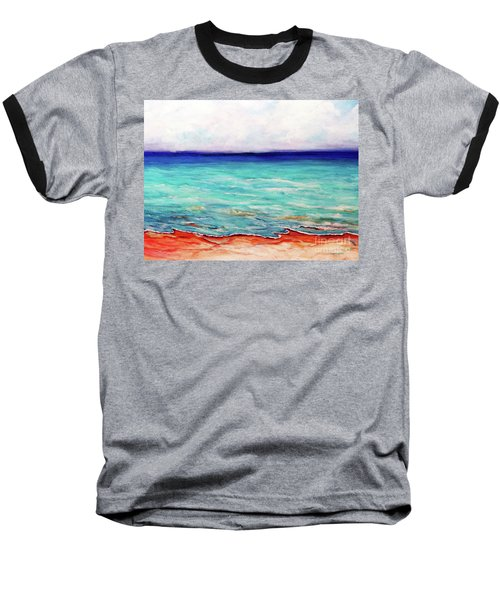 Baseball T-Shirt featuring the painting St. George Island Breeze by Ecinja Art Works