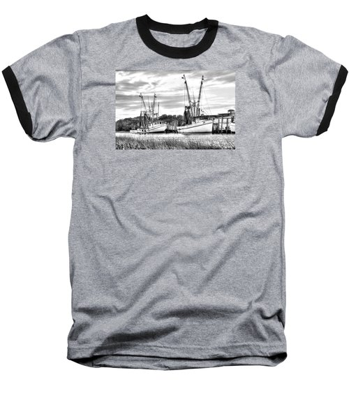 St. Helena Shrimp Boats Baseball T-Shirt by Scott Hansen