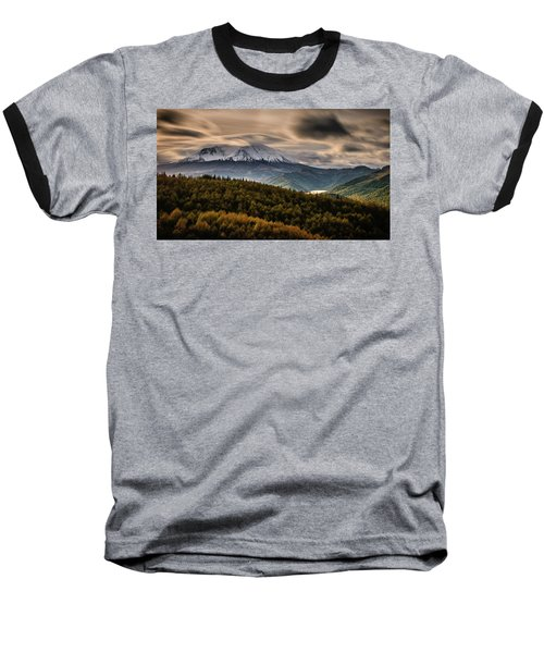 Baseball T-Shirt featuring the photograph St. Helens Wrath by Dan Mihai