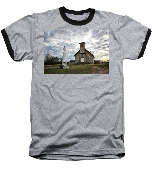 Baseball T-Shirt featuring the photograph St Hubert by Ryan Crouse