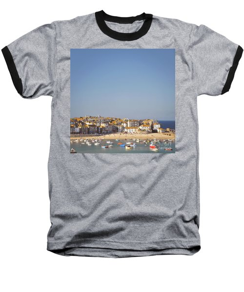 Baseball T-Shirt featuring the photograph St Ives Harbour by Lyn Randle