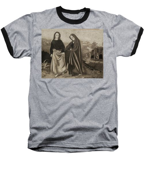 St. John And Blessed Mother At The Tomb Baseball T-Shirt