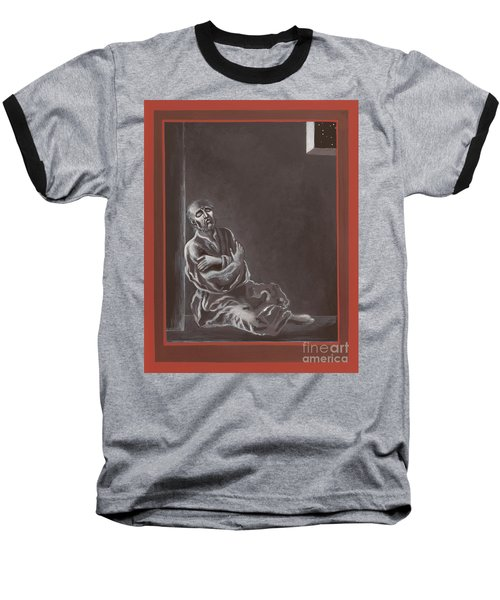 Baseball T-Shirt featuring the painting  St John Of The Cross In The Dark Night Of The Soul 290 by William Hart McNichols