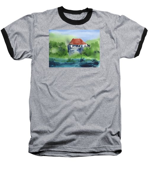 Baseball T-Shirt featuring the painting St Johns Rental by Frank Bright