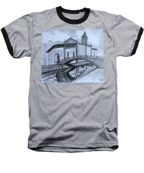 St. Jules Cathedral  Baseball T-Shirt by Tony Clark
