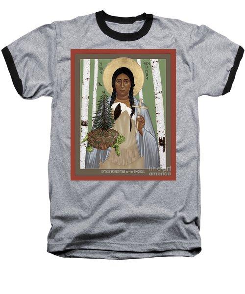 St. Kateri Tekakwitha Of The Iroquois - Rlktk Baseball T-Shirt