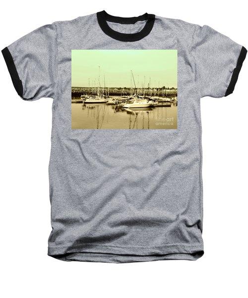 St. Lawrence Seaway Marina Baseball T-Shirt by Susan Lafleur
