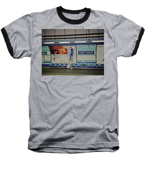 Baseball T-Shirt featuring the photograph St. Lazare Poster Hanger by Frank DiMarco