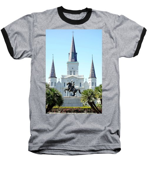 St. Louis Cathedral From Jackson Square Baseball T-Shirt