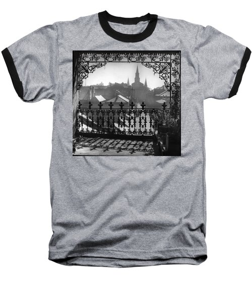 St Louis Cathedral In Frame Baseball T-Shirt