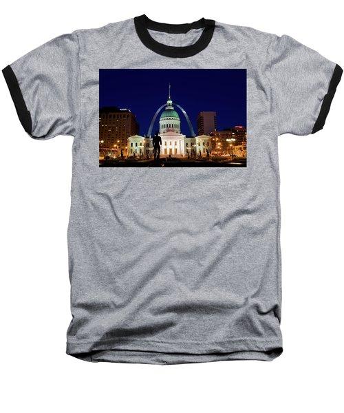 Baseball T-Shirt featuring the photograph St. Louis by Steve Stuller