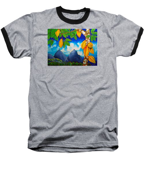 St. Lucia Cocoa Baseball T-Shirt