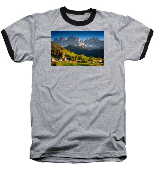 St. Magdalena Alpine Village In Autumn Baseball T-Shirt
