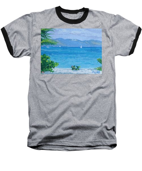 St Martin From Anguilla Baseball T-Shirt by Margaret Brooks