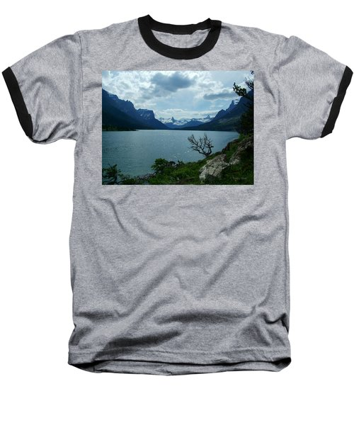 St Mary Lake, Incoming Storm Baseball T-Shirt