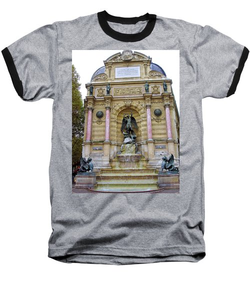 St. Michael's Fountain Baseball T-Shirt