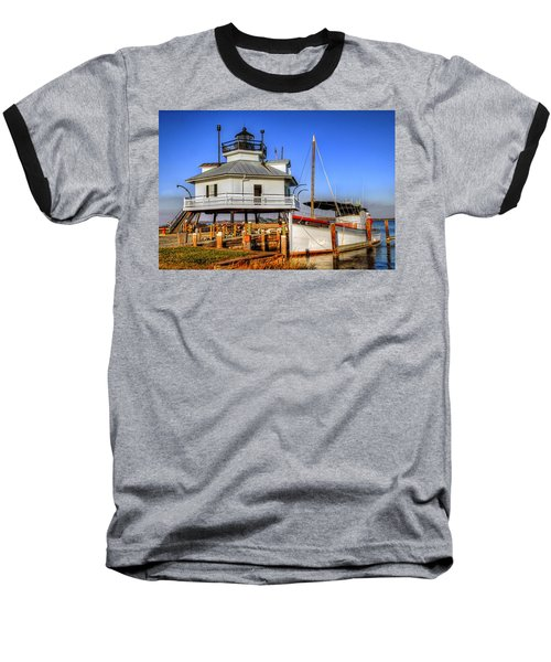 St Michaels Lighthouse Baseball T-Shirt by Dave Mills