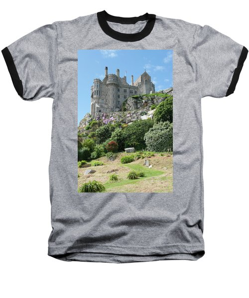St Michael's Mount Castle II Baseball T-Shirt by Helen Northcott
