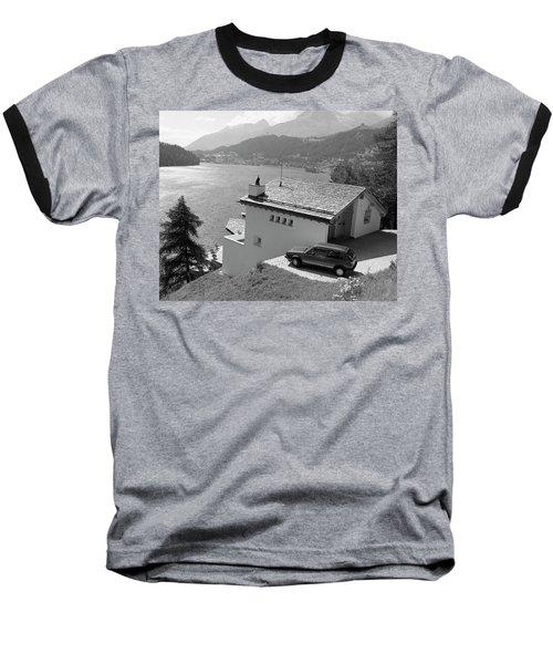 Baseball T-Shirt featuring the photograph St Moritz by Jim Mathis