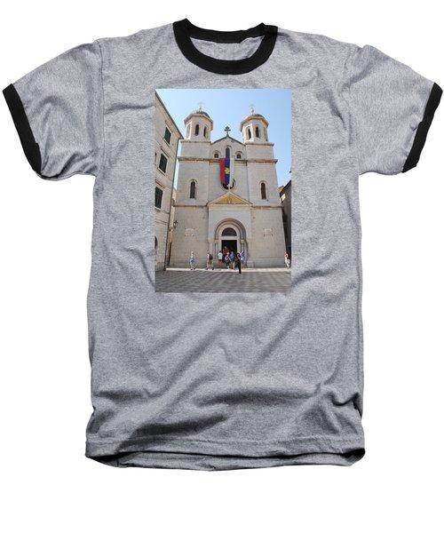 St Nicholas Kotor Baseball T-Shirt by Robert Moss