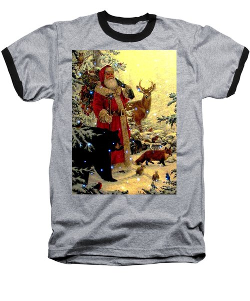 Baseball T-Shirt featuring the photograph St Nick  And Friends by Judyann Matthews
