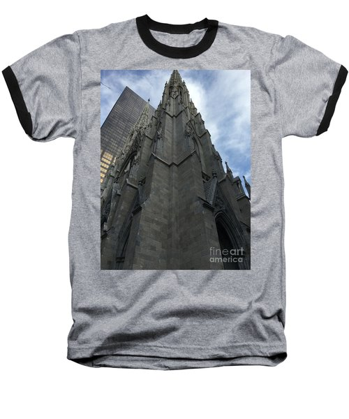 St. Patricks Cathedral Perspective Baseball T-Shirt