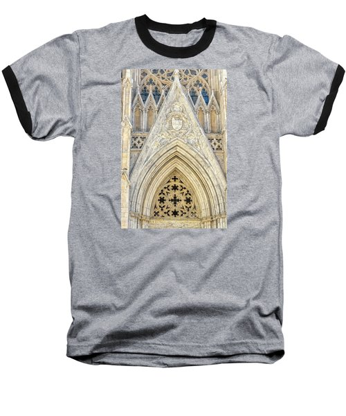 St. Patrick's Cathedral Baseball T-Shirt by Sabine Edrissi