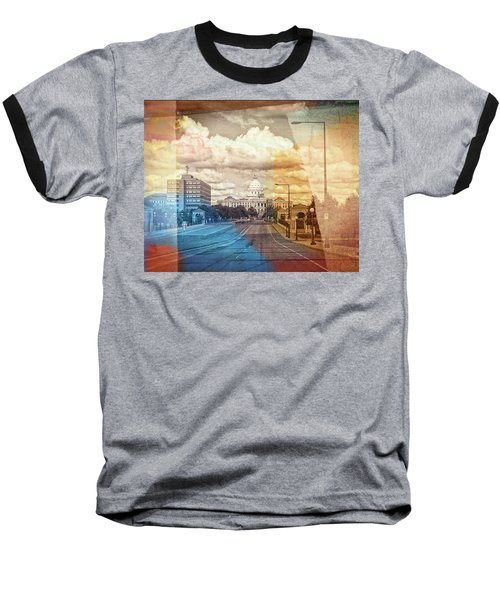 Baseball T-Shirt featuring the photograph St. Paul Capital Building by Susan Stone