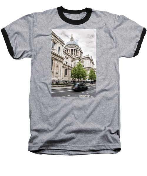 St Pauls Cathedral With Black Taxi Baseball T-Shirt