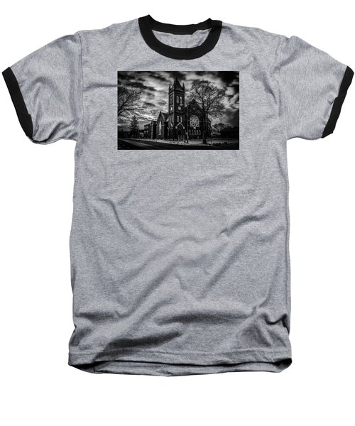 St Pauls United Church Milton  Black And White Baseball T-Shirt