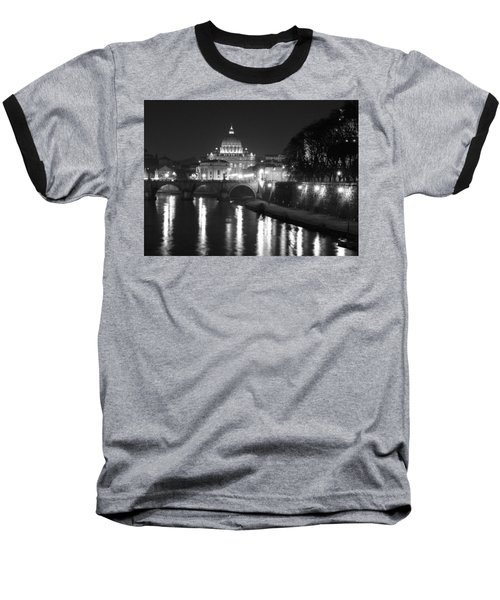 Baseball T-Shirt featuring the photograph St. Peters At Night by Donna Corless