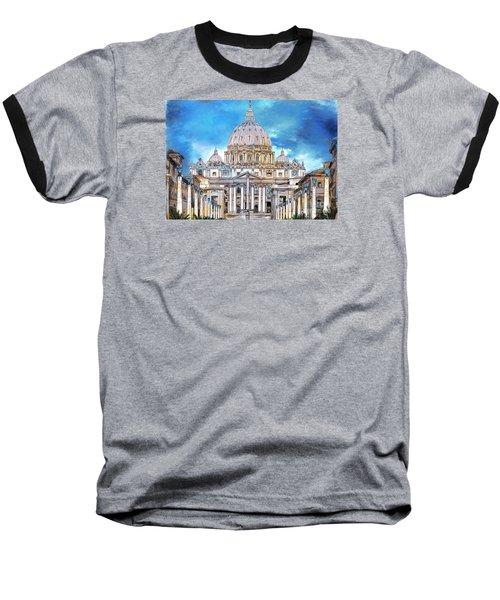St. Peter's Basilica Baseball T-Shirt