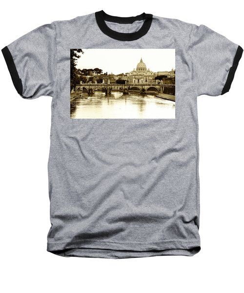 Baseball T-Shirt featuring the photograph St. Peters Basilica by Mircea Costina Photography