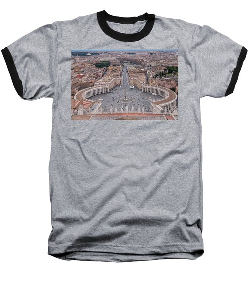 Baseball T-Shirt featuring the photograph St. Peter's Square by Sergey Simanovsky
