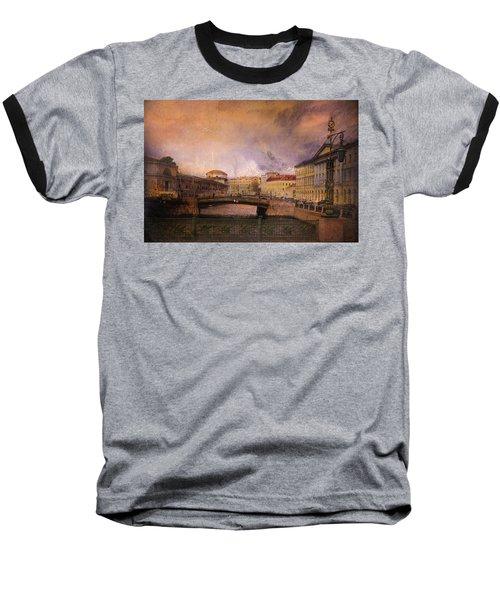 St Petersburg Canal Baseball T-Shirt by Jeff Burgess
