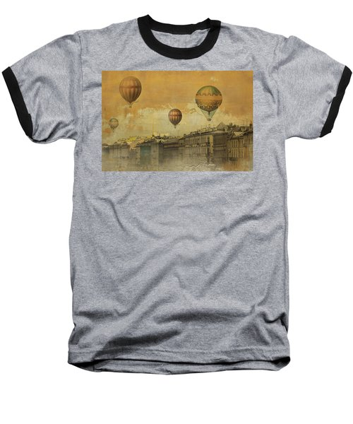 St Petersburg With Air Baloons Baseball T-Shirt by Jeff Burgess