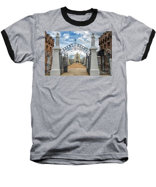 St. Roch's Cemetery In New Orleans, Louisiana Baseball T-Shirt by Bonnie Barry