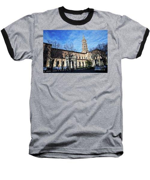 Baseball T-Shirt featuring the photograph St Sernin Basilica by Cendrine Marrouat
