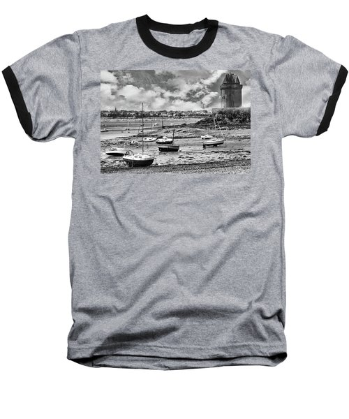 Baseball T-Shirt featuring the photograph St. Servan Anse At Low Tide by Elf Evans