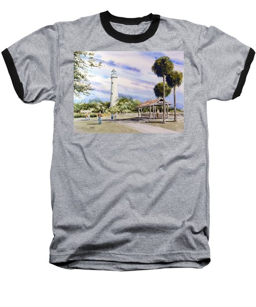 St. Simons Island Lighthouse Baseball T-Shirt