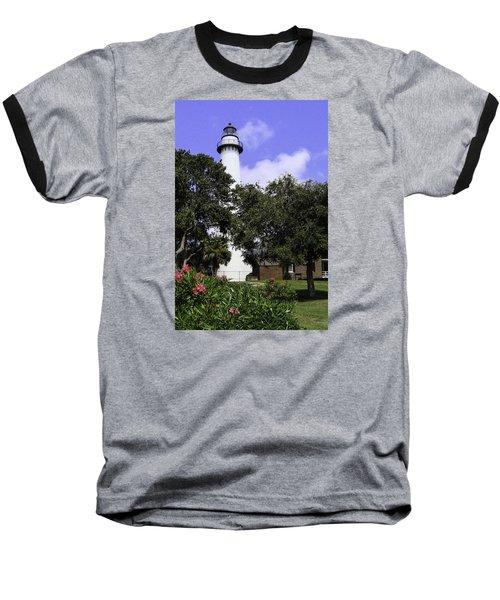 St Simons Isle Lighthouse Baseball T-Shirt